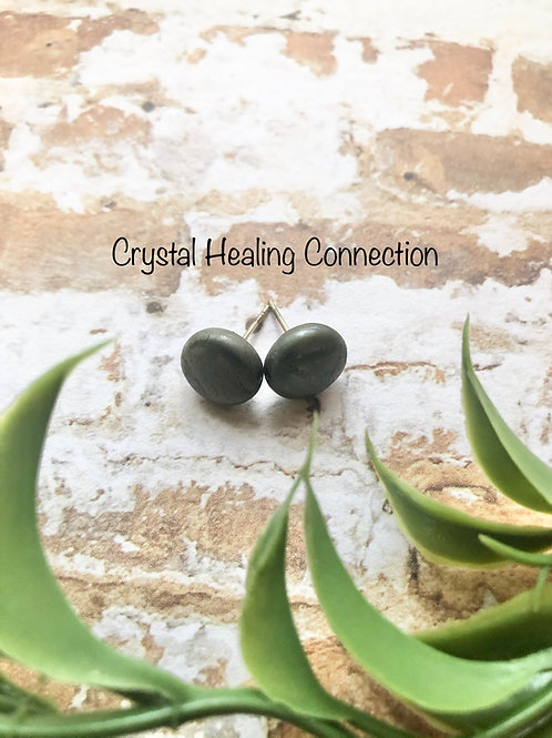 Pyrite Round Stud Earrings