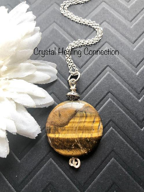 Tigers Eye Round Necklace