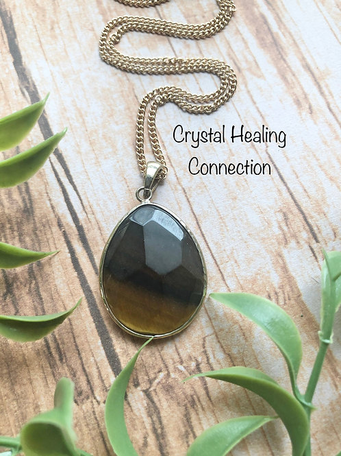 Tigers Eye Oval Necklace