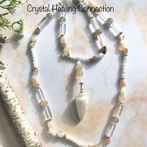 Moonstone Pendulum Necklace