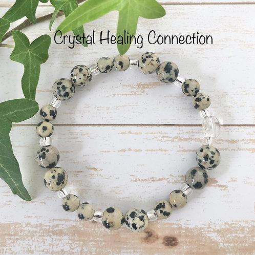 Dalmatian Stone Bracelets