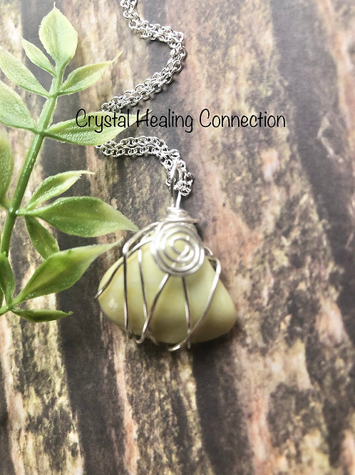 Wire Wrapped Infinite Swirl Necklace