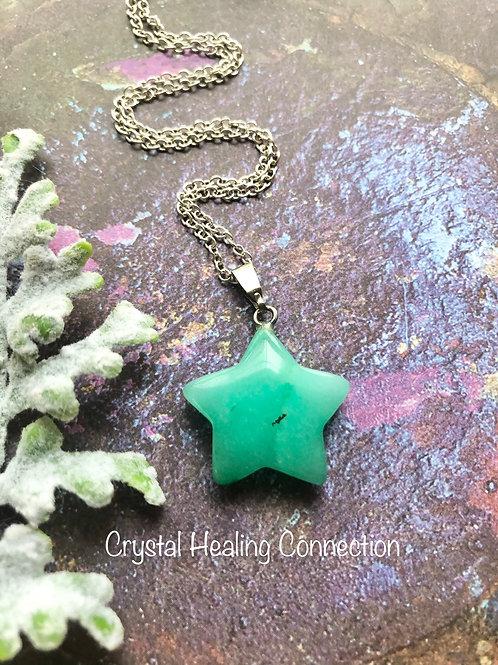 Chrysoprase Star Necklace