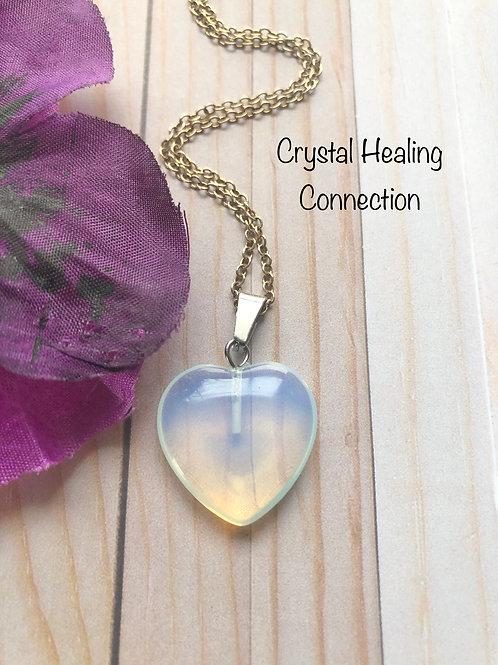 Opalite Mini Heart necklace