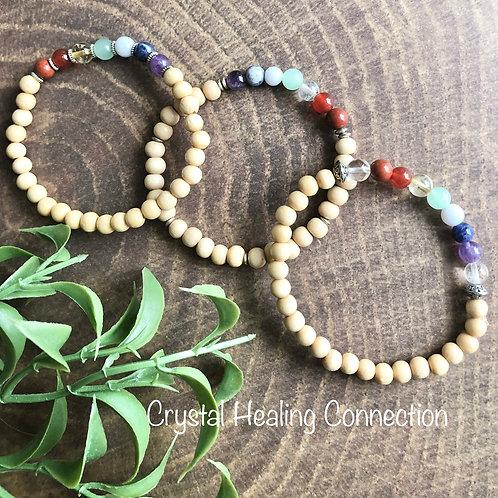 Chakra Bracelets Light Wood