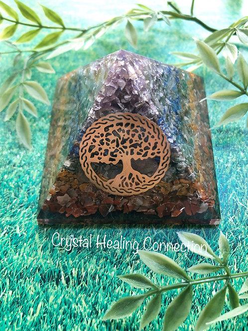 Chakra Tree of Life Orgonite Pyramid