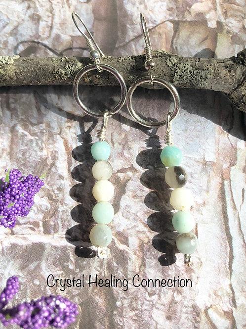 Amazonite Beaded  Earrings