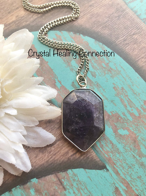 Amethyst Pointed Pendant Necklace