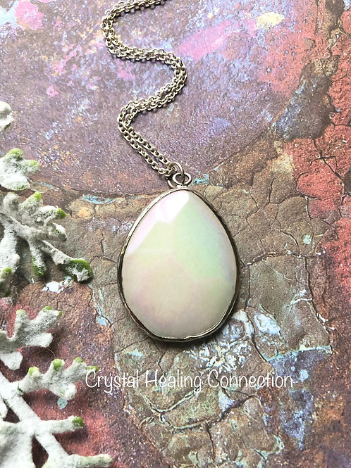 Faceted Opalite Oval necklace