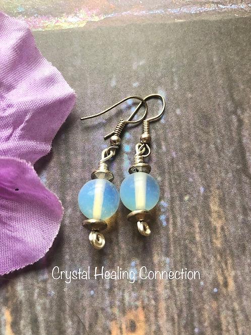 Opalite 1 Bead Earrings
