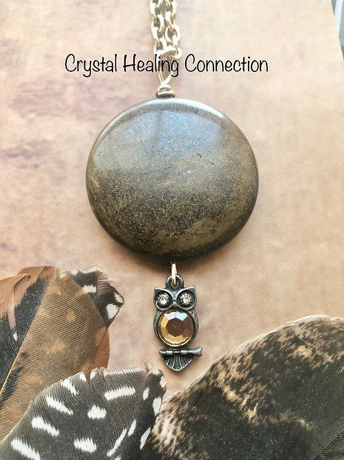 Bronzite Owl necklace