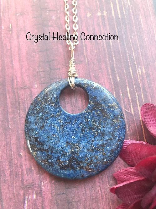 Lapis Lazuli Large Pi stone Necklace