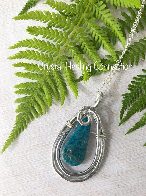 Apatite Wire Wrapped Necklace
