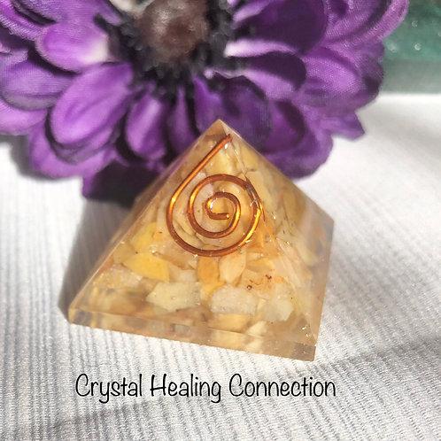 Mini Yellow Jasper Organinte Pyramid