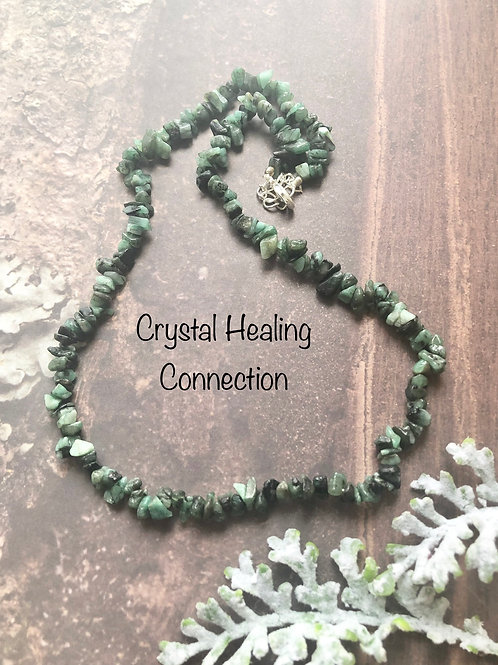 Emerald Crystal Chip Necklace