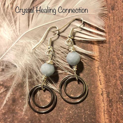 Angelite Double Loop earrings