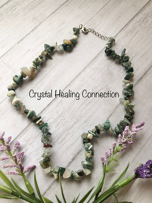 Fancy Jasper Crystal Chip Necklace