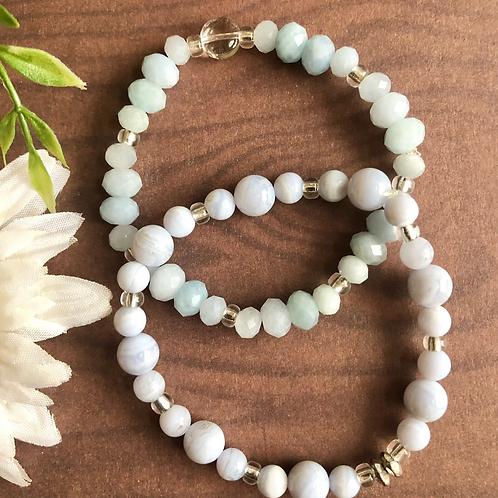Blue Lace Agate Bracelets