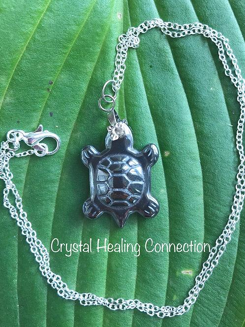 Hematite Turtle 20mm