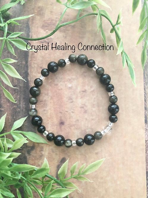 Gold Sheen Obsidian Bracelets