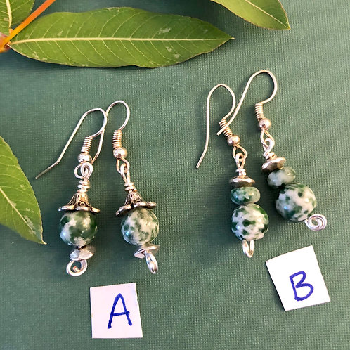 Tree Agate Earrings