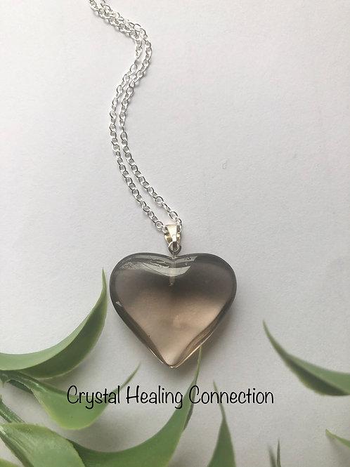 Smokey Quartz Heart Necklace