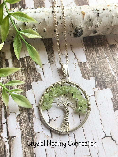 Peridot Tree of Life Necklace