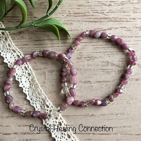 Pink Tourmaline Bracelets