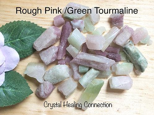 Rough Pink/Green Tourmaline