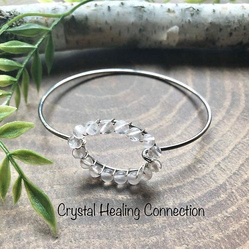 Rose Quartz Wire Wrapped Bracelet