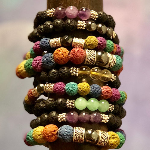 Crystal Diffuser Bracelets