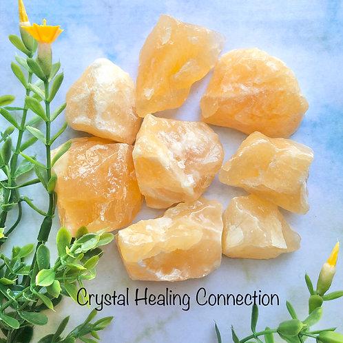 Gemmy Natural Rough Orange Calcite