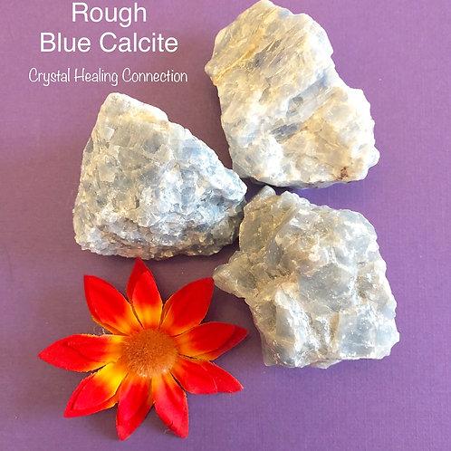 XL Rough Blue Calcite