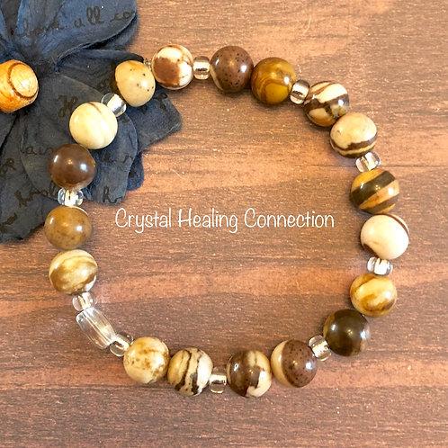 Brown Zebra Stone Bracelets