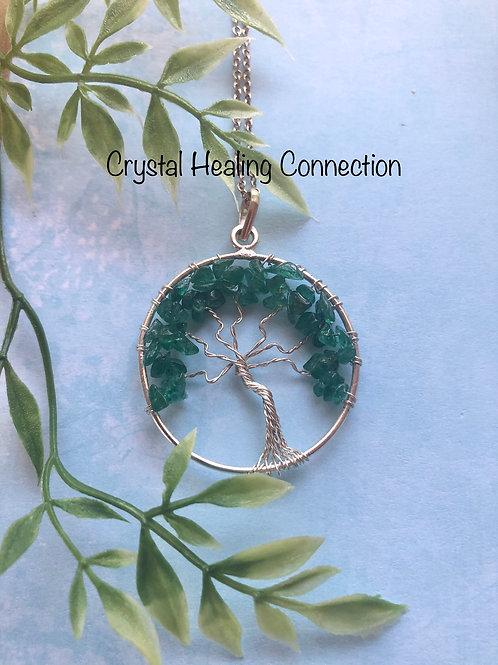 Green Aventurine Tree Of Life Necklace