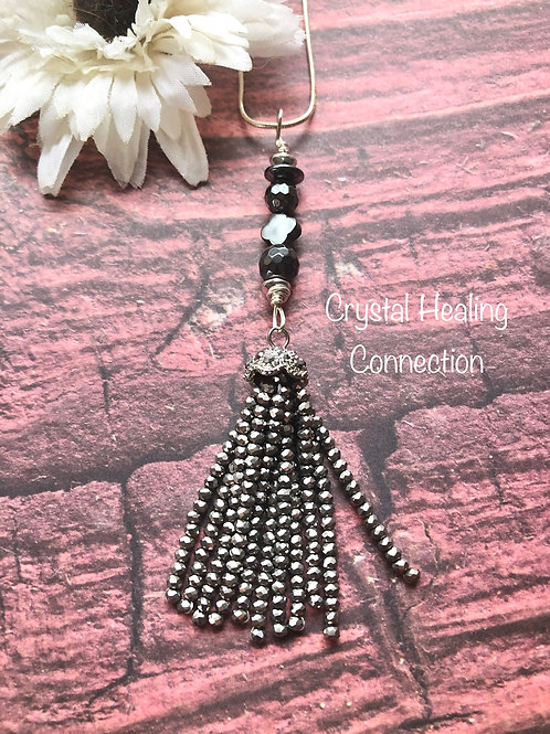 Hematite Tassle Necklace