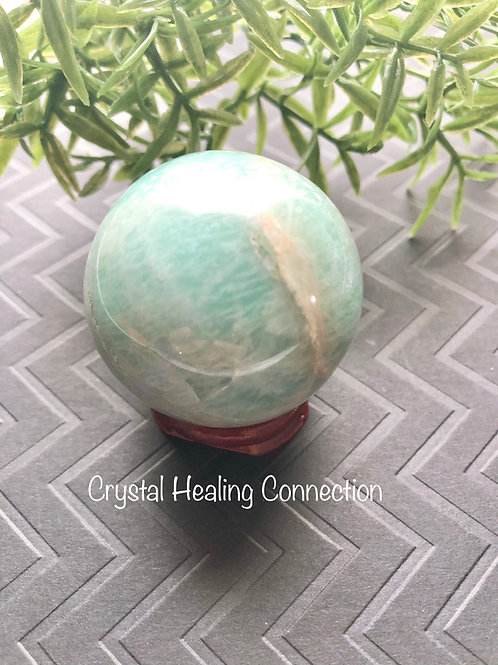 50mm Amazonite Sphere with stand