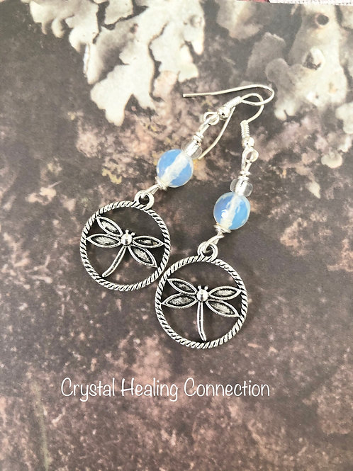 Opalite Dragonfly Earrings