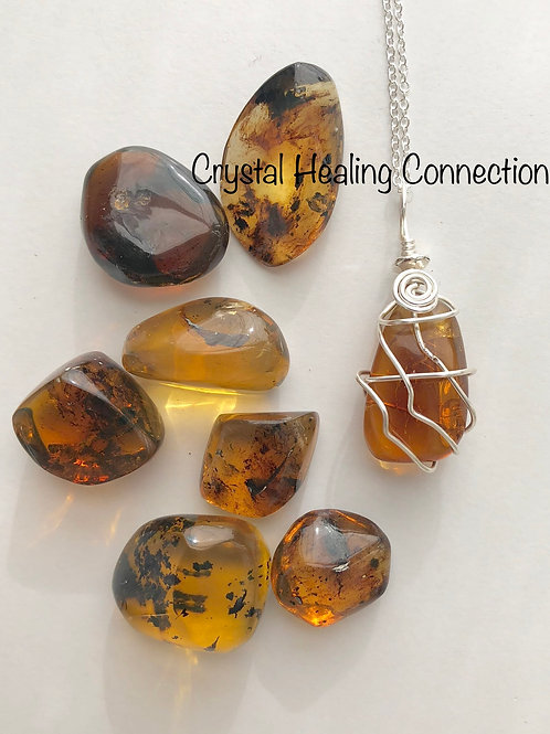 Baltic Amber Wire Wrapped Necklace
