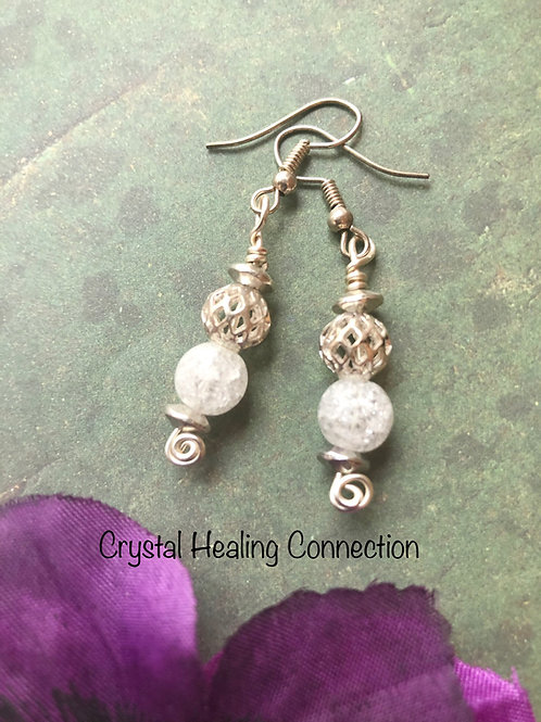 Crackle Quartz Earrings
