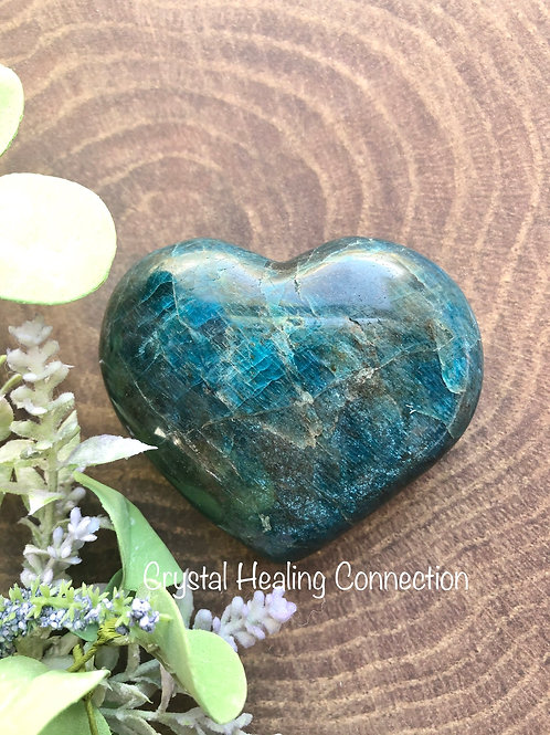 Blue Apatite Extra Large Heart