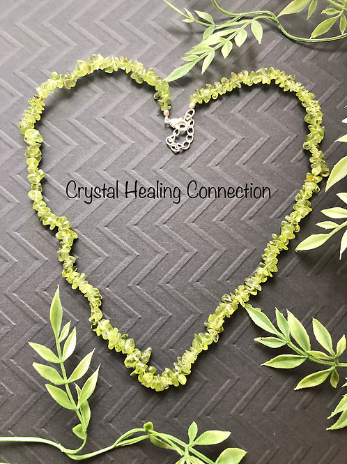 Peridot Crystal Chip Necklace