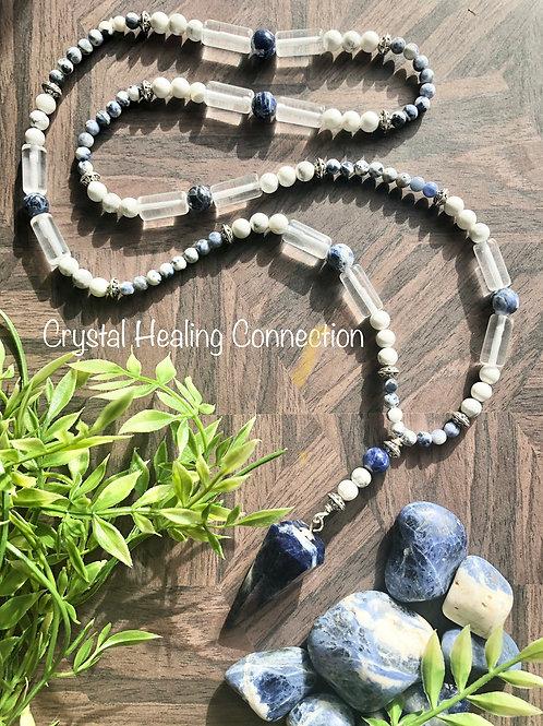 Sodalite and Howlite Pendulum Necklace