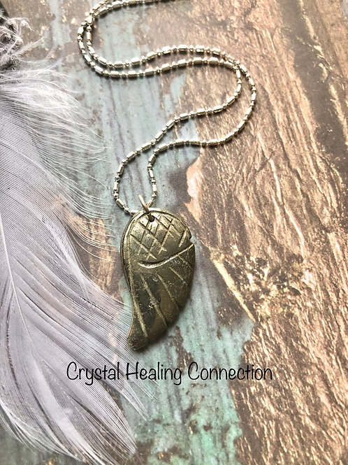 Pyrite Angel Wing Necklace