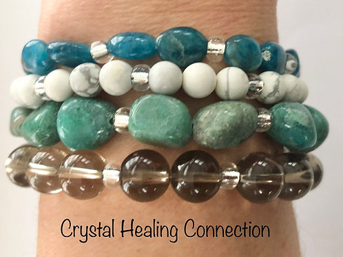 Peacock Blend Crystal Stackables