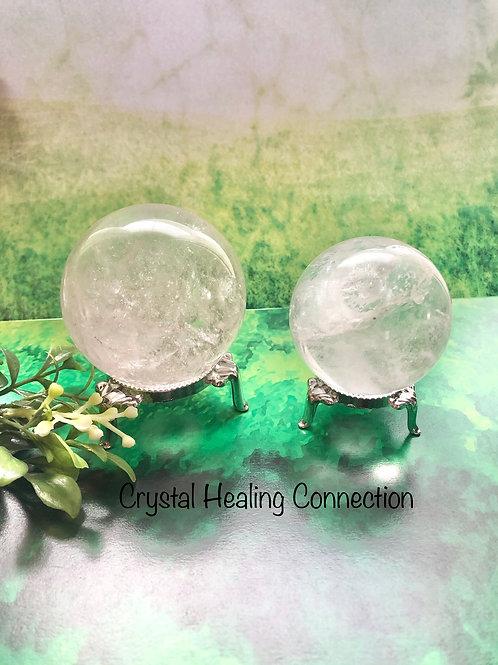 Beautiful Clear Quartz Spheres