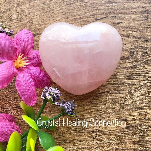 Rose Quartz Puffy Heart