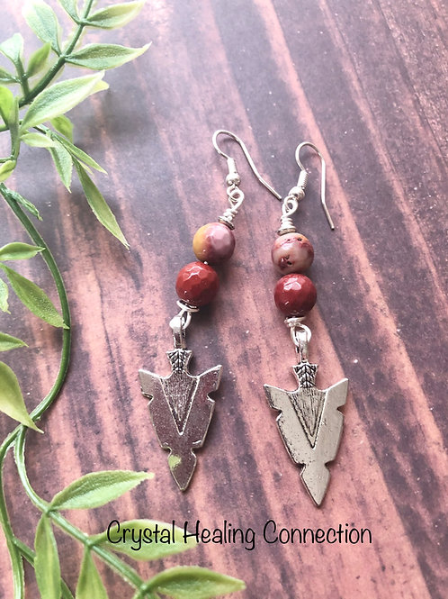 Mookaite Arrow Earrings