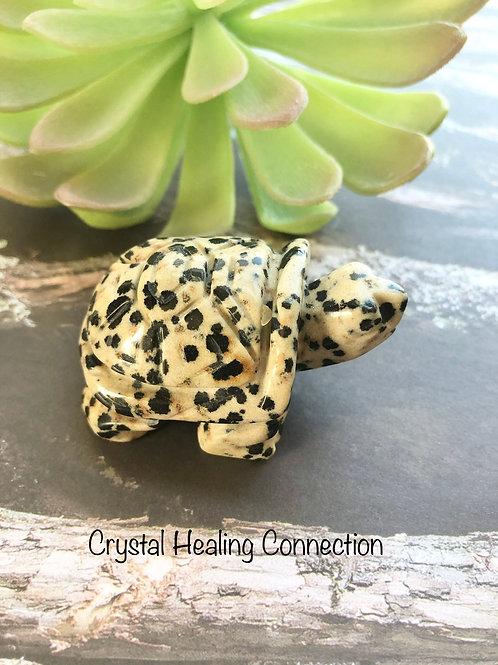 DalmatianStone Chunky Gemstone Turtle