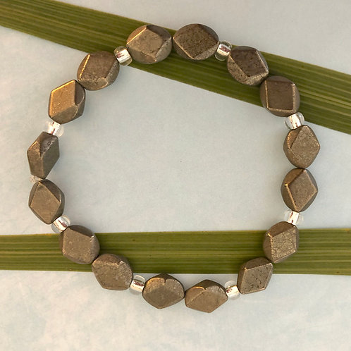 Pyrite Diamond Bracelet2